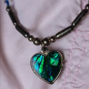 Vintage Green Heart Necklace